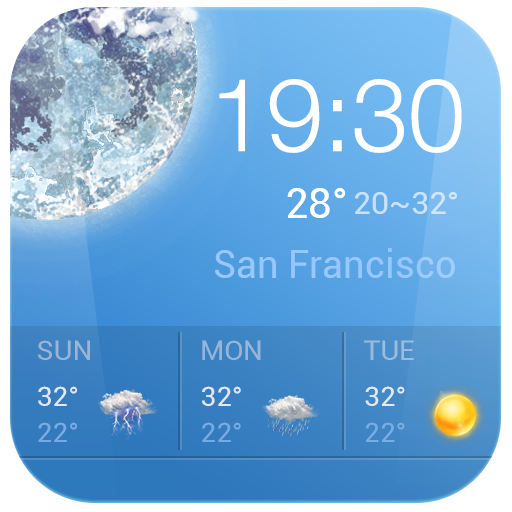 Win7 Clock & Weather Widget