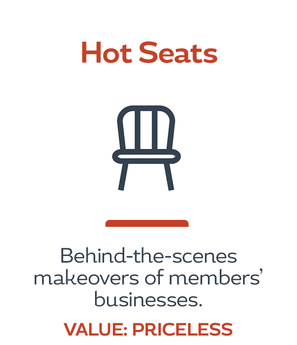 HerBusiness Network Benefits - Hot Seats