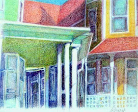 Photo: Porches of Ft. Sanders 4 . colored pencil . 12x16