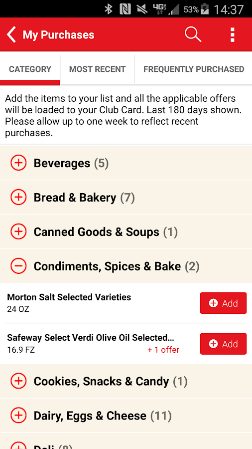Safeway- screenshot