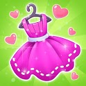 Fashion Dress up games for girls. Sewing clothes icon