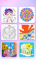 Coloring Fun : Color by Number Games APK screenshot thumbnail 2