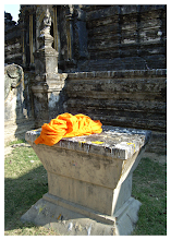 Photo: Saffron Robe  I'm not sure why these Monk's robes were discarded in the temple grounds but they made the shot by adding a huge splash of colour just in the right place.