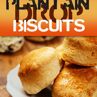 Plantain Drop Biscuits