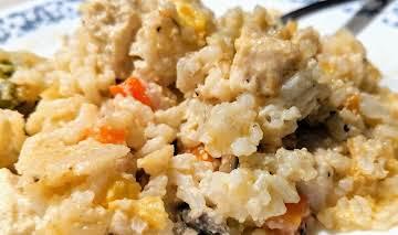 One-Dish Chicken & Rice Casserole