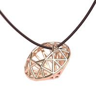 Wireframe diamond (round brilliant cut)