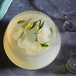 Champagne Punch with Ginger, Lemon, and Sage Recipe