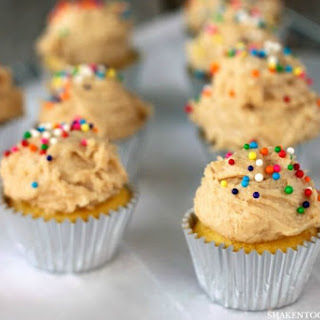 Mini Sugar Cookie Dough Frosted Cupcakes.