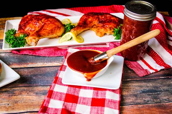 A Bowl Of Mama's Barbecue Sauce.