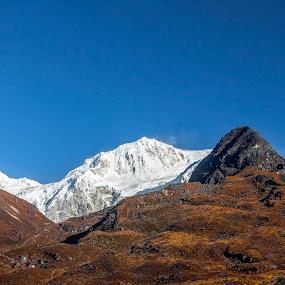Mt. Kabru & Co. by Mrigankamouli Bhattacharjee - Landscapes Mountains & Hills ( mountain, peak, himalayas, black, kabru )