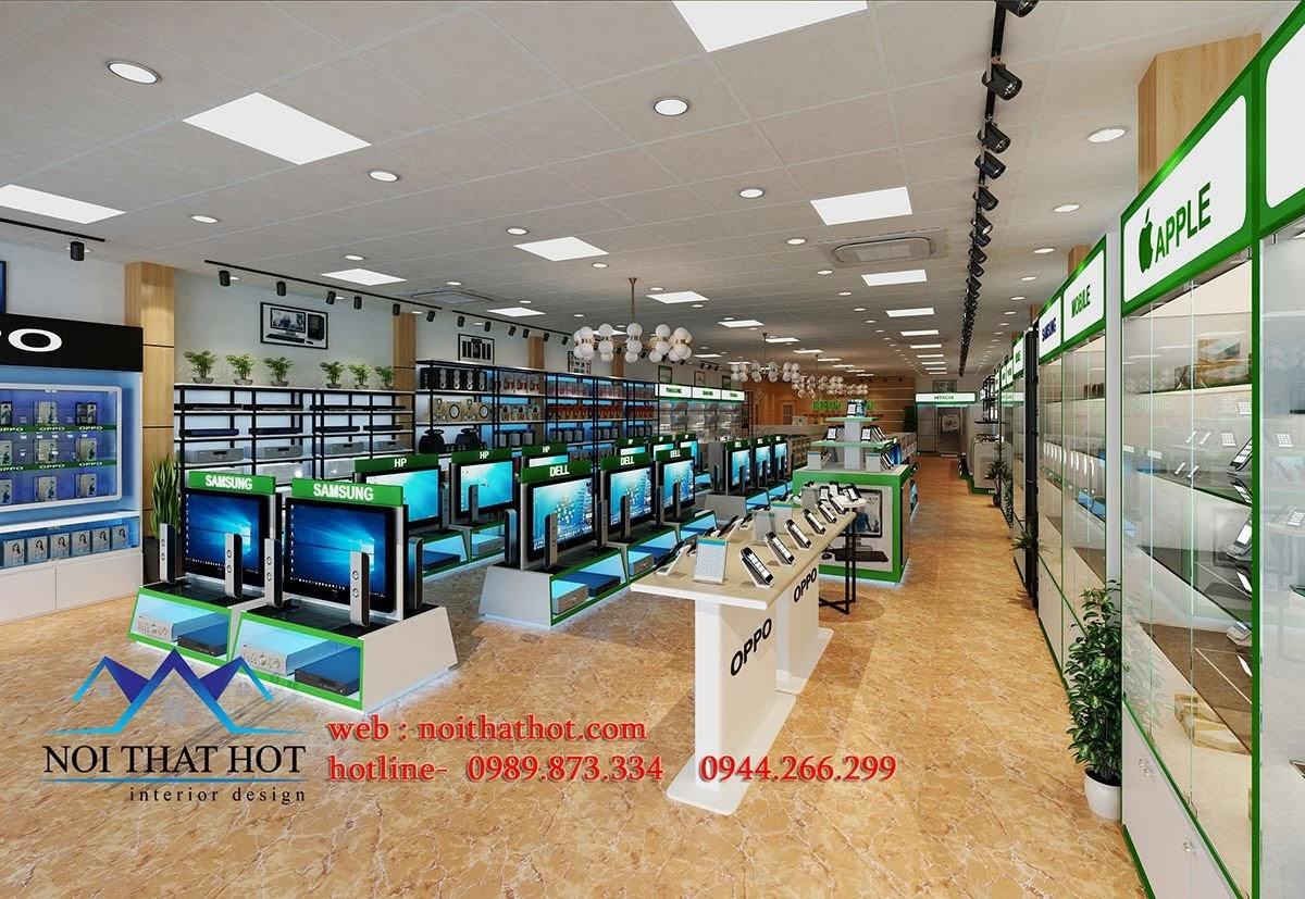 thiết kế nội thất siêu thị điện máy hợp lý
