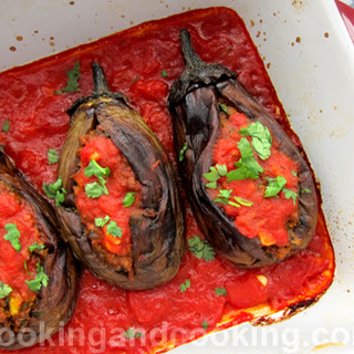 Persian Stuffed Eggplant with Ground Beef.