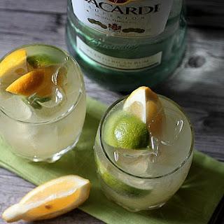 Lemon Lime Rum Cocktail.
