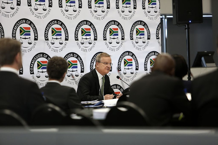 Nedbank CEO Mike Brown testifies at the state capture inquiry in Parktown, Johannesburg, on September 19 2018.