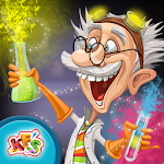 Crazy Scientist Lab Experiment Icon