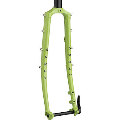 """Surly Disc Trucker Fork - 700c, 1-1/8"""" Straight, 100x12 mm Thru-Axle, Steel, Disc, Pea Lime Soup"""