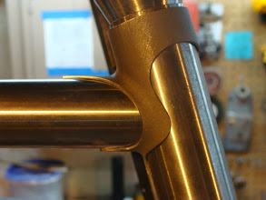Photo: Llewellyn's Cadenzia top tube lug after some serious shaping.
