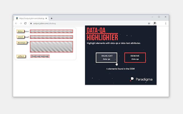 data-qa Highlighter