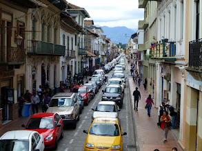 Photo: When the Cuenca streets get like this (almost all the time) it's faster to walk