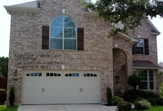 Photo: Cedar Park Overhead Doors. Contemporary recessed panel Door. 512-335-7441.