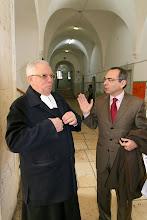Photo: Frère Raphaël et Jean-Paul Ghoneim, Conseiller de Coopération et d'Action culturelle au Consulat général de France à Jérusalem