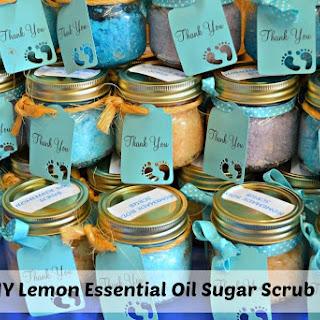 DIY Lemon Essential Oil Sugar Scrub