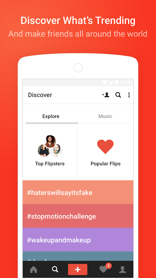 Screenshots of Flipagram for iPhone