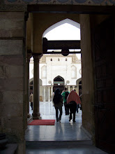 Photo: Coming into the courtyard of the mosque.