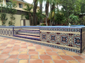 Photo: Malibu Tile Works - Pool Edge - Private Residence - Long Beach, CA