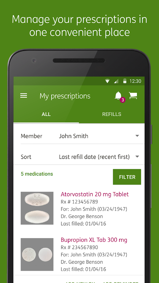 Humana Pharmacy- screenshot