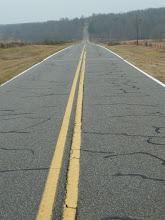 Photo: A long roadwalk in Georgia.  Storm's coming!