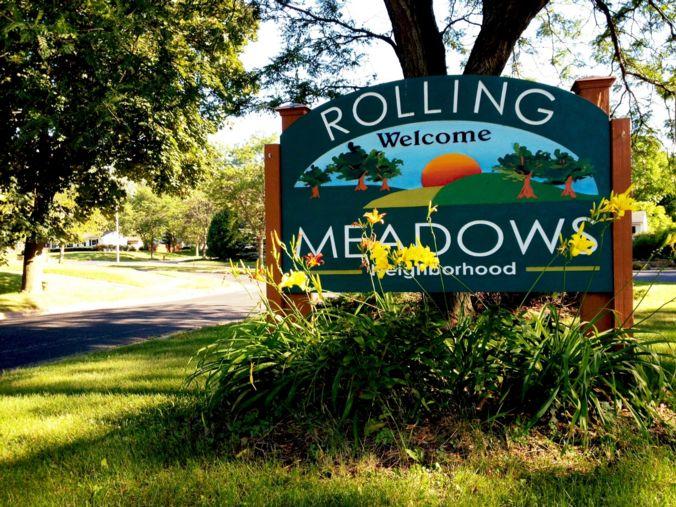 Rolling Meadows Neighborhood sign