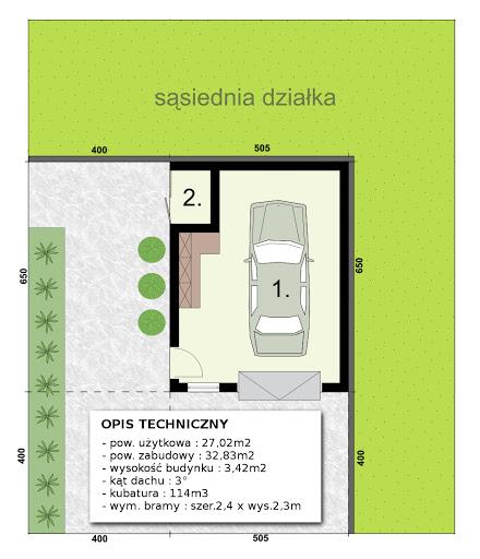 G-T2f - Rzut garażu