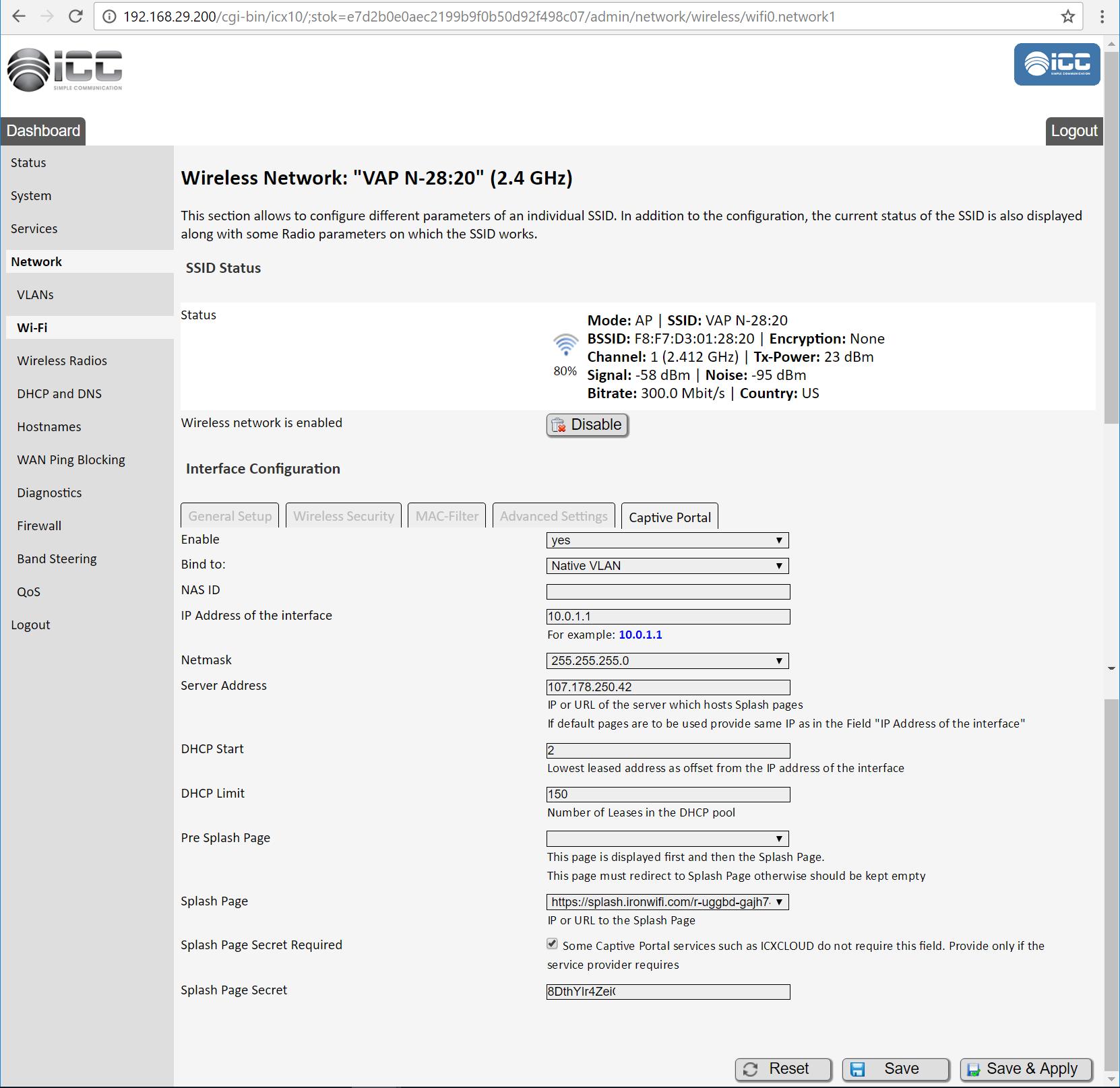 icc captive portal step 3