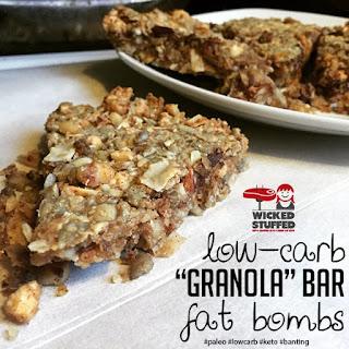 """Low Carb """"Granola"""" Bar Fat Bombs"""