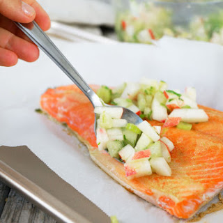 Wild Salmon with Nectarine-Cucumber Salsa