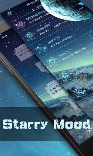 FREE GO SMS STARRYMOOD THEME