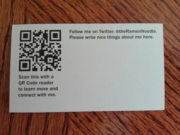 podcast business card with QR card