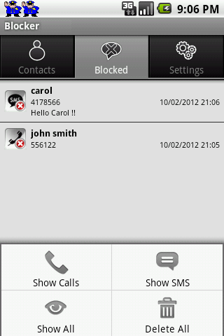 SMS & Call Blocker LITE screenshot 6