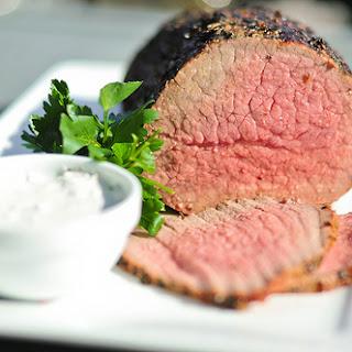 Herbed Roast Beef With Horseradish Cream Sauce