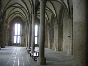 Photo: Below the Refectory is the Salle Des Hotes, where invited guests were welcomed and fed. The room also contains two massive fireplaces which served as the kitchen for the meals served.