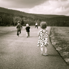 The Road To Gigi's by Sandra Millsap - Babies & Children Children Candids ( grandchildren, children, running, race )