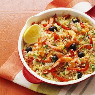 Shrimp Paella.