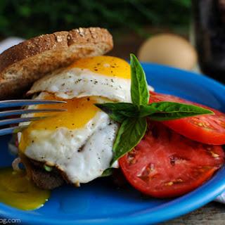Bacon Tomato Onion Egg Sandwich.