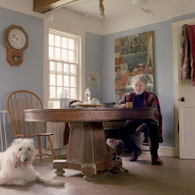 Photo: title: Mary Bok with Surely & Honey the dogs, Camden, Maine date: 2011 relationship: friends, met through Gideon Bok years known: 20-25