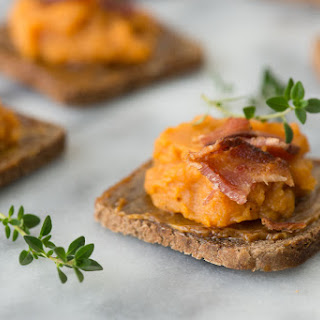 Maple Bacon Sweet Potato Bruchetta