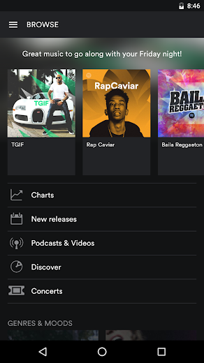 Screenshot 2 for Spotify's Android app'