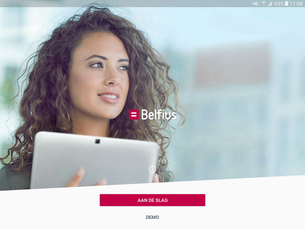 Belfius Tablet- screenshot