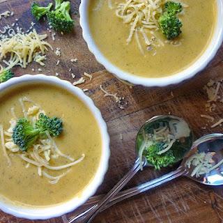 Creamy Broccoli Cheddar Soup.