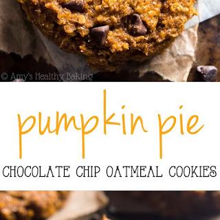 Pumpkin Pie Chocolate Chip Oatmeal Cookies